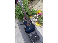 Yamaha APX 500 III Electro acoustic guitar and Ibanez GTA10 Guitar Amplifier