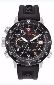 Citizen BN5058-07E Mens Eco-Drive Promaster Altichron Black Rubber Watch