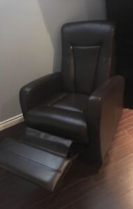 Expresso Brown Leather Chair