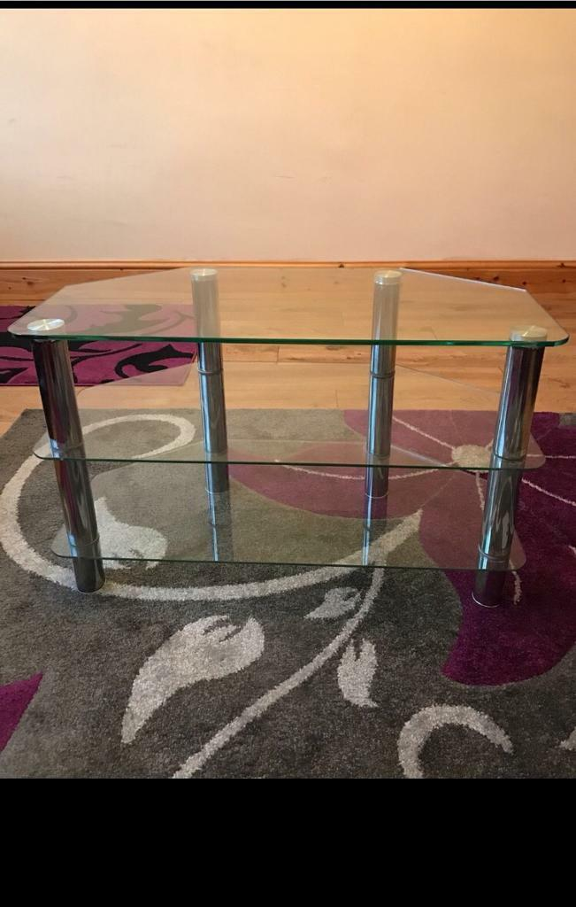 Glass tv/table stand. 3tier.