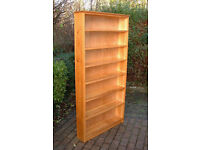 Large Solid Pine Bookcase - Wall Shelves - Shelving
