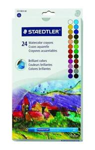 NEW Staedtler STD223M24 Karat Aquarell Water Color Crayons - Yellow, Orange, Red, Light