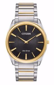 Citizen Eco-Drive Stiletto Two Tone Stainless Steel Men's Watch AR3074-54E