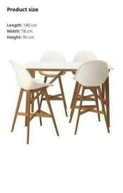 IKEA high table with two chairs