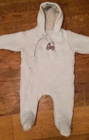 Pale Blue Snow suit 6-9m