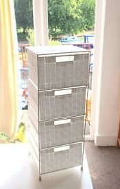 4 drawer storage cabinet