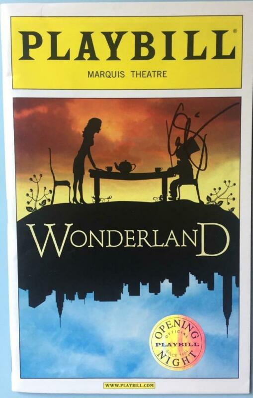 Silver Seal  Opening Night Playbill  Signed by Kate Shindle  Playbill Wonderland