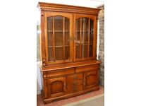 Display cabinet with sideboard - very solid but well used - upcycling
