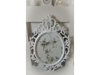 FRENCH SHABBY CHIC STYLE WHITE FRAME ~ COULD BE USED FOR A MIRROR!