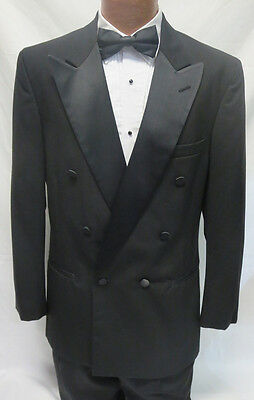 Discount Boys Suits (6B Boys Black Double Breasted Tuxedo Jacket Discount Costume Kids Ringbearer)