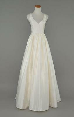 J.CREW $1,150 KARLIE SILK DUPIONI WEDDING BALL GOWN 6 IVORY BRIDAL DRESS E0707