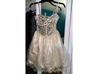 Quiz Champagne-coloured occasion/ party dress size 10