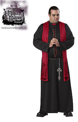Gothic Priest Sinister Minister Adult Plus Size Costume
