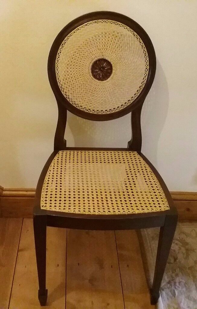 Antique Mahogany Caned Dining/Bedroom/Occasional Chair