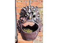 Terracotta owl planter