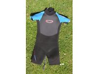 Child's Shortie Wetsuit, Wet Suit - Very Good Condition, K10, 9-10 Years, ideal for an 8 year old