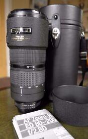 Nikon AF Nikkor 80-200mm f2.8D ED Lens with Case. (For D610, D700,D750,D800,D810).