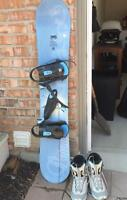 Ladies Foxie Snowboard and Boots