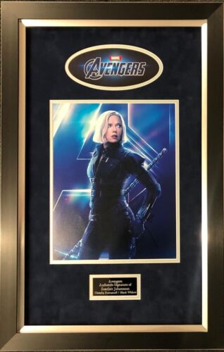 Scarlett Johansson Signed 11X14 Framed Photo Black Widow Avengers AFTAL COA (A)