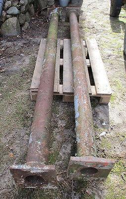 2 Säulen / Gußsäule / Eisensäule / Kapitell / Gußeisen / Industriedesign