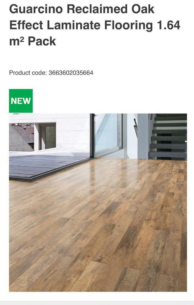 11 Packs Of Guarcino Reclaimed Oak Effect Laminate Floor