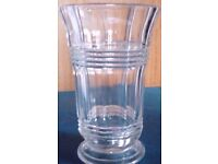 Vintage Design 16.5cm Ornate Clear Vase.