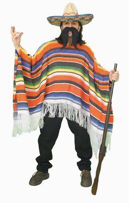 Mexican Poncho Adult Unisex Serape Blanket Costume One Size Cinco De Mayo (Serape Costume)