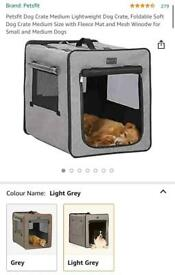 Large Petsfit Travel crate - Light Grey