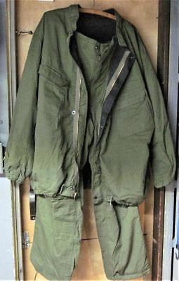 Vintage 1981 Military Chemical Protective Suit Size X-large Pants Jacket Green