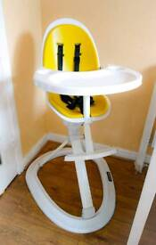 Ickle Bubba Orb Designer Baby High Chair - Yellow/White