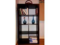 Good condition dark brown book shelves/ book shelf