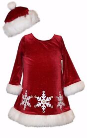 Job lot 32 x Bonnie Jean Party/Christmas Xmas dresses - brand new baby to 7 years old