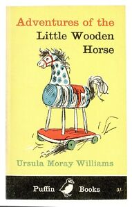 (09008) Postcard - Adventure of the Little Wooden Horse - book cover - unposted