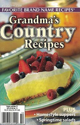 Favorite Brand Name Recipes GRANDMA's COUNTRY RECIPES Small Cookbook #21 - Halloween Food Games