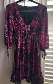 Purple and dark pink Dress by Jane Norman (size 8)