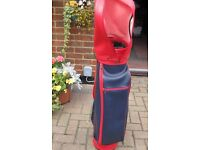 Red and Blue Golf Bag for sale.