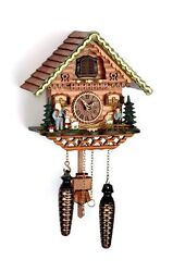 cuckoo clock black forest quartz german  music  Heidi House wood new