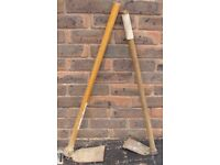 Sold subject to collection 2 x Garden Hoes as per attached photos