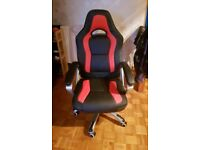 Black/Red Swivel Office/Gaming Chair