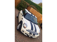 MINI Hatch 1.4 One 3dr Cream Racing Stripes & Panoramic Sunroof