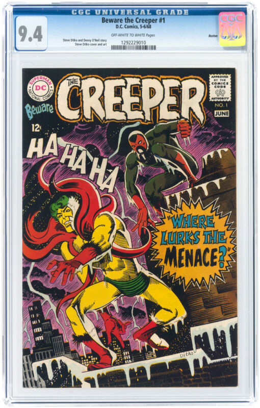 Beware the Creeper #1 CGC 9.4 DC 1968 - Boston Pedigree!! See Large Scan! F11 cm