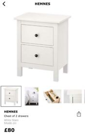 New Ikea hemnes bedside drawers and dressing table