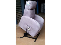 Ex Display Rise and Recline Chair - Grey/Purple
