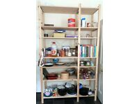 IKEA Ivar wooden kitchen or garage shelves - shelving unit - pine wood storage RRP £106
