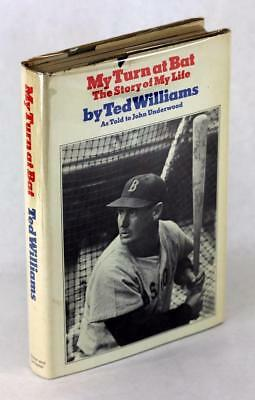 Signed Ted Williams 1969 My Turn At Bat Story Of My Life Hardcover W Dustjacket