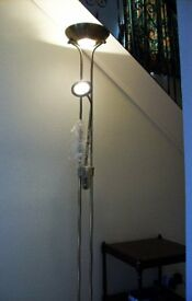 Father and son Floor lamp BNIB antique brass finnish