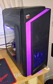 New Purple LED Gaming PC Package with CS:GO - Windows 10 - Keyboard - Mouse - 8GB RAM - 750ti