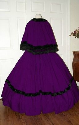 I-D-D Civil War Reenactment Dickens Faire Victorian 3 piece Dress  Plum on Rummage