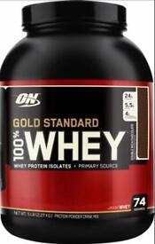 Brand new unopened Gold standard protein powder
