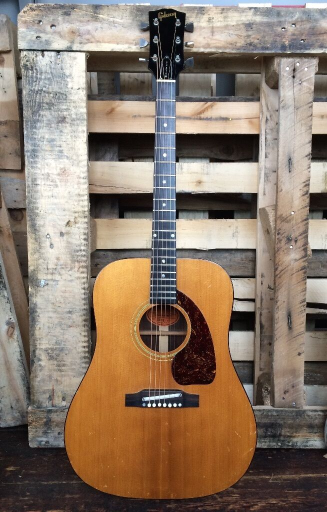 1968 GIBSON HERITAGE CUSTOM RARE VINTAGE BRAZILIAN ROSEWOOD DREADNOUGHT ACOUSTIC GUITAR